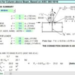 Connection Design For Column Above Beam Spreadsheet