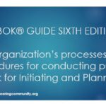 PMBOK® GUIDE SIXTH EDITION  The organization's processes and procedures for conducting project work for Initiating and Planning