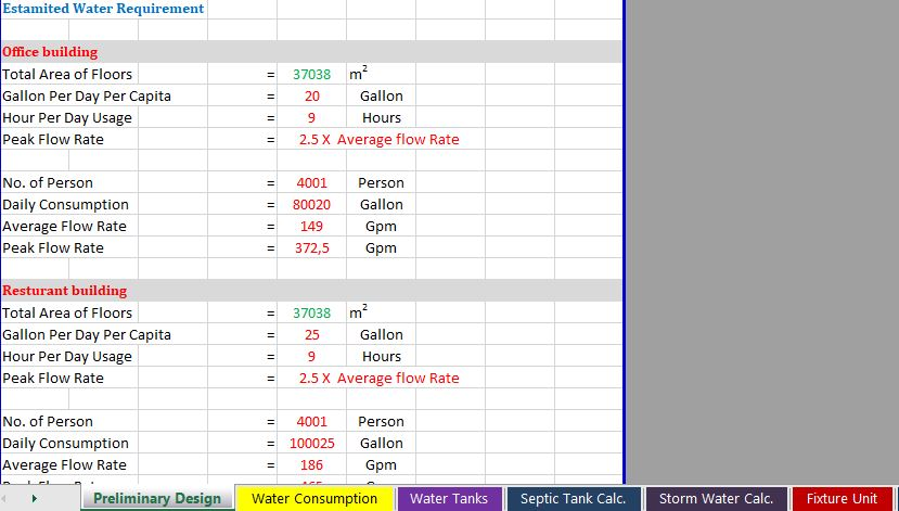 All Plumping Calculations Spreadsheet