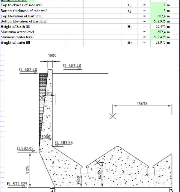 Desilting Basin Design And Calculation Spreadsheet