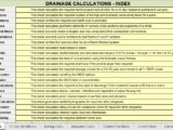 The most important Drainage Calculation Spreadsheets