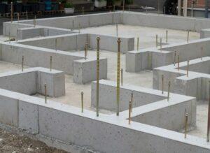 Strip footing foundation