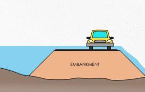 Water through embankment