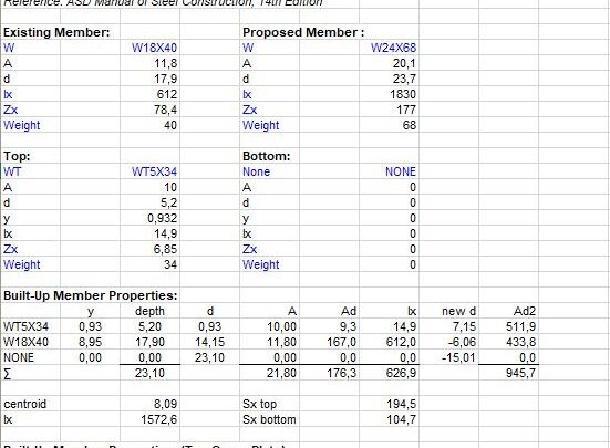 Built-Up Member Design and Calculation Spreadsheet