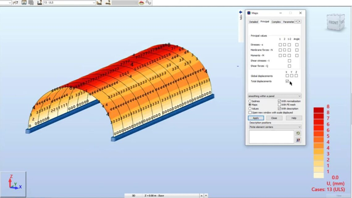 Designing and Analysis Of RCC-Tunnel in Robot Structural Analysis Professional 2022
