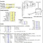 Flexible Seat Angle Reaction Analysis Spreadsheet