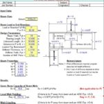 Steel Beam Web Stiffener Analysis Spreadsheet