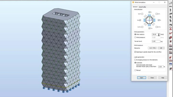Tutorial for Modeling of RCC High-Rise Building in Robot Structural Analysis Professional 2022